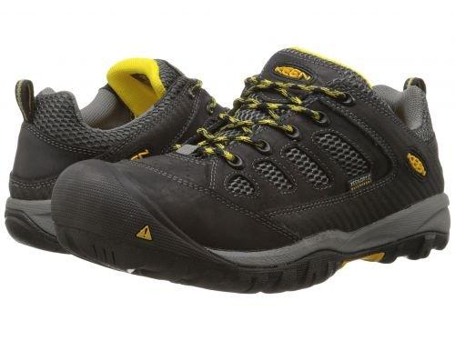 Keen Utility(キーン) メンズ 男性用 シューズ 靴 スニーカー 運動靴 Tucson Low Steel Toe - Black/Gargoyle [並行輸入品] B07C8R54L8
