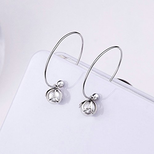 The Kiss Love Pearl 925 Sterling Silver Drop Earrings