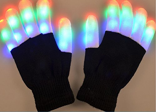 LED Colorful Flashing Finger Lighting Gloves for Light Show by PPolive