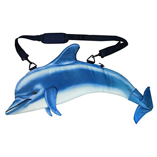 Pealra Dolphin Bag, Blue/White, One (Dolphin Bag)