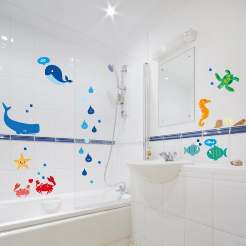 Wandkings-wall-stickers-Sweet-and-Colourful-Sea-Creatures-Sticker-Set-more-than-40-stickers-on-2-A4-sheets