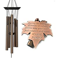 PRIME Memorial 17 inch DEEP TONE Copper In Memory of Loved One Copper Wind Chime for Memorial Garden Remembrance Gift After Loss Top Selling Memorial