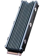 QIVYNSRY M.2 heatsink 2280 SSD dubbelzijdige koellichaam met thermische siliconen pad voor computer pc PS5 PCIE NVME M.2 SSD of NGFF SATA M.2 SSD Space Grey