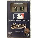 iHip MLF10169HOU MLB Houston Astros Printed Ear Buds, Red/Gold