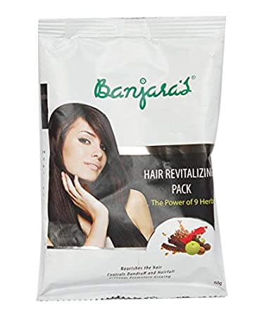 30b114654 Image Unavailable. Image not available for. Color: Banjara's Pure Herb Hair  Revitalizing pack 60GM