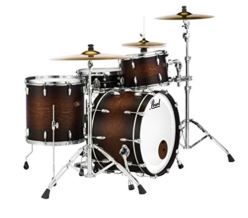 Pearl FW923XP/C327 Wood Fiberglass Series 3 Piece Shell Pack, Satin Cocoa Burst (Cymbals/Hardware Sold Separately)