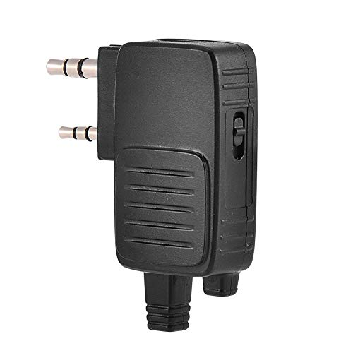 ASHATA Walkie Talkie Adapter,2 Pin K Plug Walkie Talkie Adapter Dongle for Baofeng Two-Way Radio BF-666s BF-480