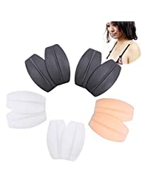 Ewinever(R) 5Pairs Silicone Bra Strap Cushions Holder Non-Slip Comfort Shoulder Pads