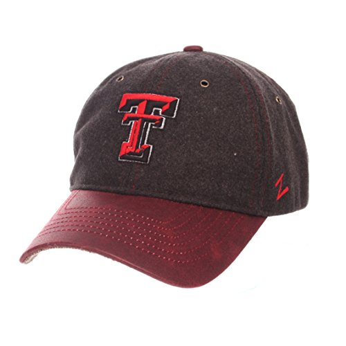 NCAA Texas Tech Red Raiders Adult Men Alum Heritage Collection Hat, Adjustable, Heather Gray