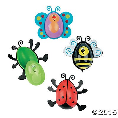 Bug Shaped Easter Eggs - 12 ct