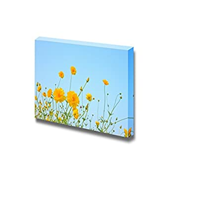 Premium Product, Majestic Piece, The Cosmos Flower on Blue Sky Background Wall Decor