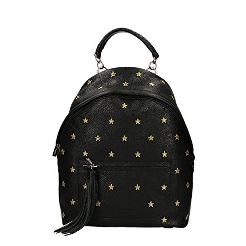 Coccinelle Leonie Stars Embroidery backpack black