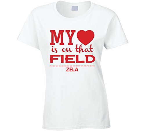 Cup Adrian (Adrian Zela My Hearts on That Field Peru World Cup 2018 Football Ladies T Shirt 2XL White)