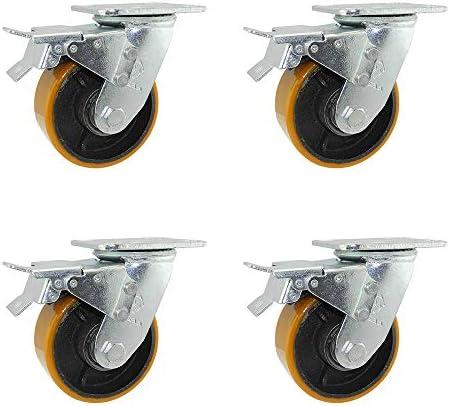 鋳鉄キャスター、スイベルキャスター、工業用キャスター、トロリーキャスター、ヘビーデューティーキャスター、頑丈で耐久性、重荷重、使いやすい(4インチ、5インチ、6インチ、8インチ)