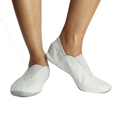 Scarpe Da Ginnastica Danzcue In Pelle Per Adulti Bianche