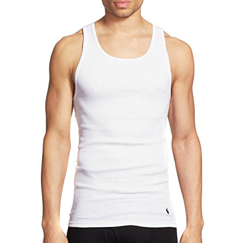 (Polo Ralph Lauren Men's 3-Pack Tank Top White Medium )