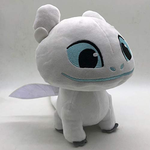 White 22cm (8.7 inch) - How to Train Your Dragon 3 Plush Toy Light Fury Plush Doll