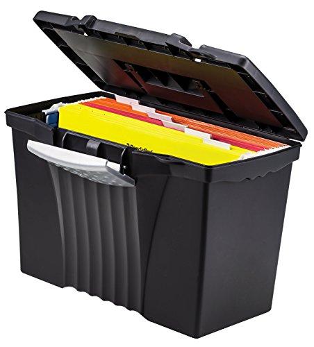 Storex Portable File Box With Organizer Lid 17 13 X 9 63