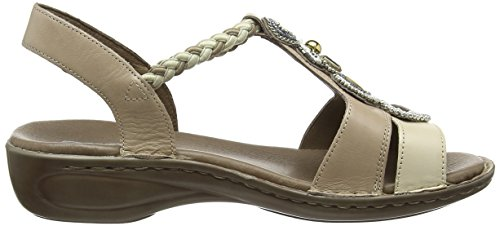 ara Hawaii - Sandalias de cuero mujer beige - Beige (panna,cemento)