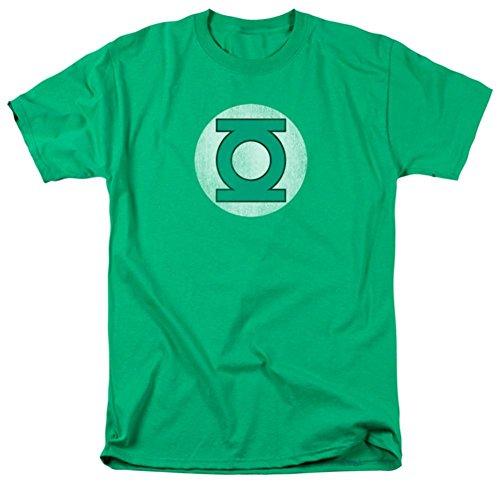 Green Lantern - Distressed Logo T-Shirt Size (Distressed Logo T-shirt)