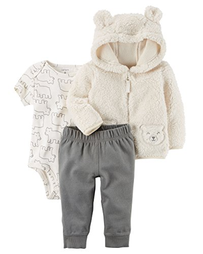 Carter's Baby Boys' 3-Piece Bear Little Jacket Set 12 Months, -
