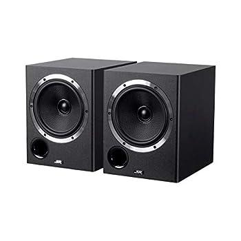 Image of 6.5-inch Powered Coaxial Studio Multimedia Monitor Speakers (Pair) Bookshelf Speakers