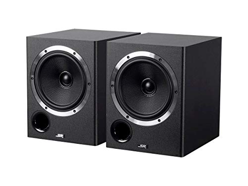 Studio Monitor Cabinet - 6.5-inch Powered Coaxial Studio Multimedia Monitor Speakers (Pair)