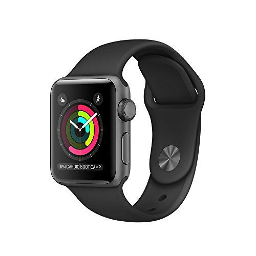 Apple Watch Series 2 38mm Smartwatch (Space Gray model sport model with a black silicon band) by Apple