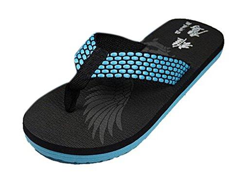 Soap Shoes For Sale (Bronze Times(TM) Men's Leisure Wide Strap Slipper Flip Flop Blue)