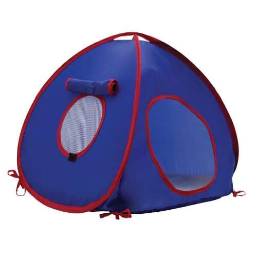 Living World Tent for Pets Rats, Blue/Red