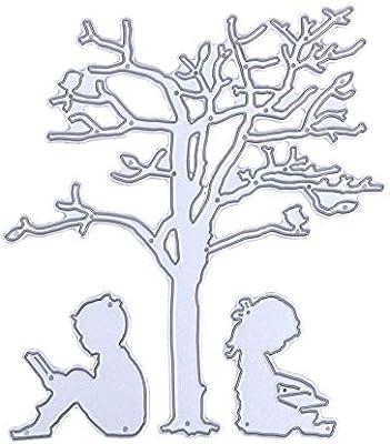 Kaiboo Troqueles para álbumes de Recortes, Scrapbooking Cortar Plantillas Troquelación Kit DIY Estampado de Plantillas (Tree Kid): Amazon.es: Hogar