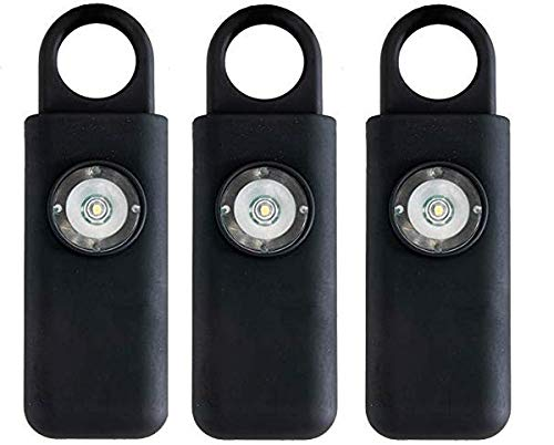 Original Defense Self Defense Siren. Personal Keychain Security Alarm for Women, Kids & Elders. Portable Personal Alarm. Helps Prevent kidnappings & abductions (Black 3 Pack)