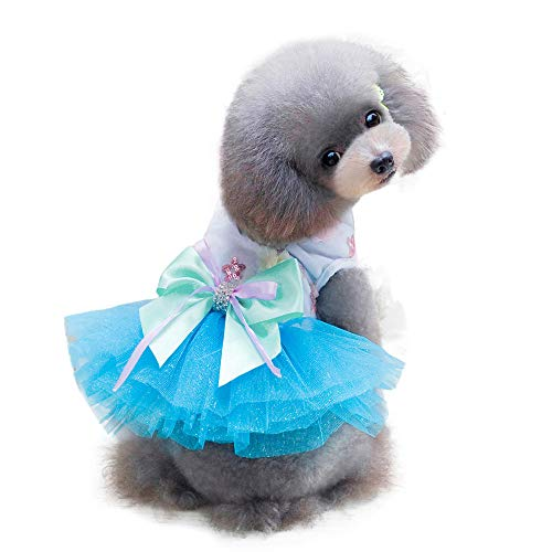 Adorable Dog Dress Laimeng_World Dog Clothes Puppy Grid Skirt Apparel for Small Medium Pets Puppy Dress -