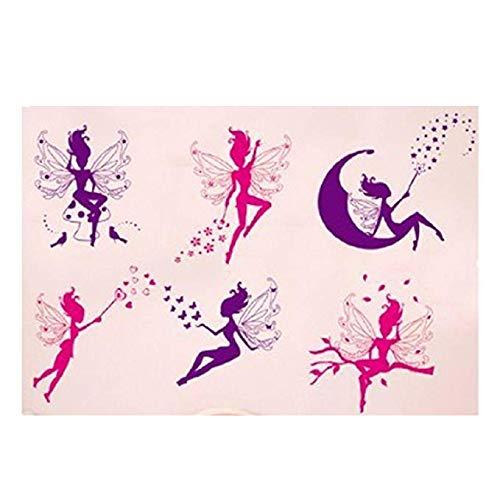Cratone Wallpaper Wall Stickers Removable Stick Wall Little Fairies Cherub Angels Wallcoverings Cartoon Decorative Supplies Art Room Design 1Piece (Wallpaper Cherub)