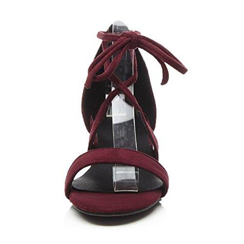 BalaMasa ASL05578 Femme Bordeaux Ouvert Bout rrwdq8R