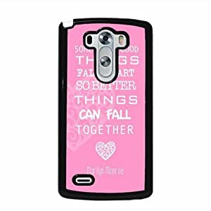 Marilyn Monroe Quote Love Pink LG G3 Protective Cell Phone Cover Case - Fits LG G3