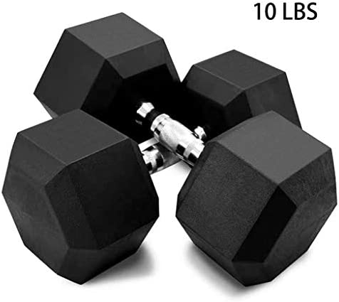 Zouheiu Dumbbells Set of 2, Exercise & Fitness Dumbbells with Metal Handles, Weights Dumbbells Set for Women Man Home Gym Equipment Strength Building, Weight Loss (5lb, 10lb, 20lb, 30lb, 40lb, 50lb) 7