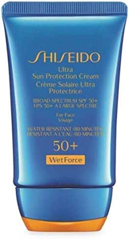 Shiseido Ultra Sun Protection Cream 50+ WetForce Broad Spectrum SPF 50+ For Face Full Size 30 mL In Retail Box