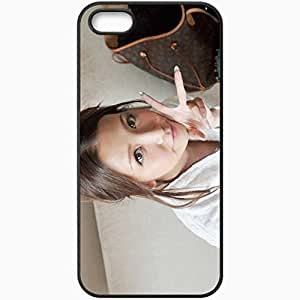 Personalized iPhone 5 5S Cell phone Case/Cover Skin Asian Brunette Manicure Black