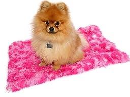 Minkie Binkie Blanket, Hot Pink Giraffe Shag, s 20x30