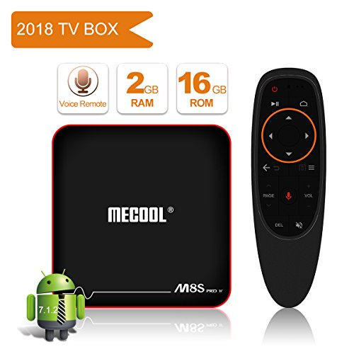2018 Newest Model MECOOL M8S PRO Android 7.1.2 TV BOX with Innovative Voice Remote, Best Android UI, 2GB RAM 16GB ROM and HD 4K Internet Media Players