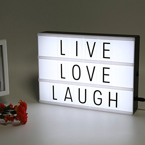 SpaceAuto A5 Size Cinematic Lightbox Cinema Letter Decorative Signs Wedding Party Shop Decoration Light Box Gift