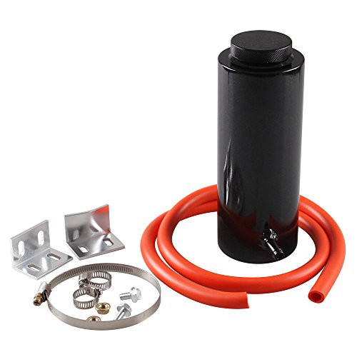 Ryanstar 800ml Racing Radiator Coolant Overflow Billet Aluminum Oil Catch Tank Round Oil Catch Can Reservoir Black by RYANSTAR (Image #4)