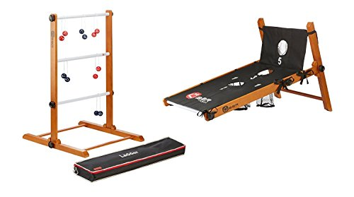 Uber Games Ladder Toss with Bag Toss Conversion Kit - Navy Blue and Red by Uber Games