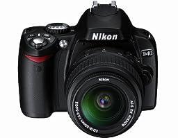 Nikon D40 6.1MP Digital SLR Camera Kit with 18-55mm f/3.5-5.6G ED II Auto Focus-S DX Zoom-Nikkor Lens