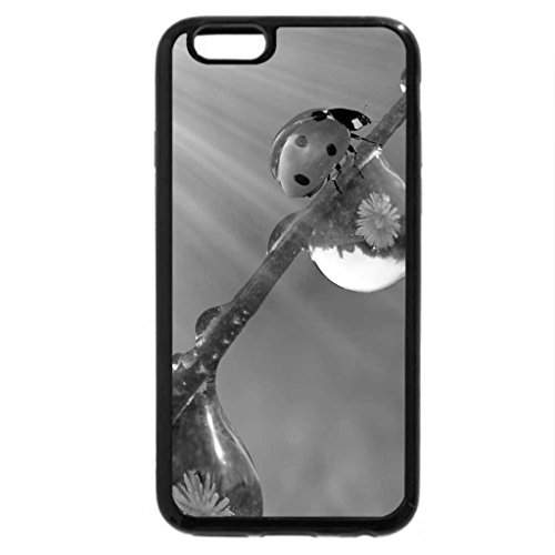 iPhone 6S Plus Case, iPhone 6 Plus Case (Black & White) - Beautiful Ladybug