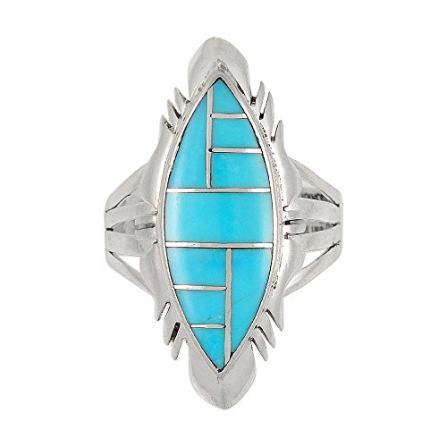 Turquoise Ring Sterling Silver 925 Genuine Gemstones SELECT color