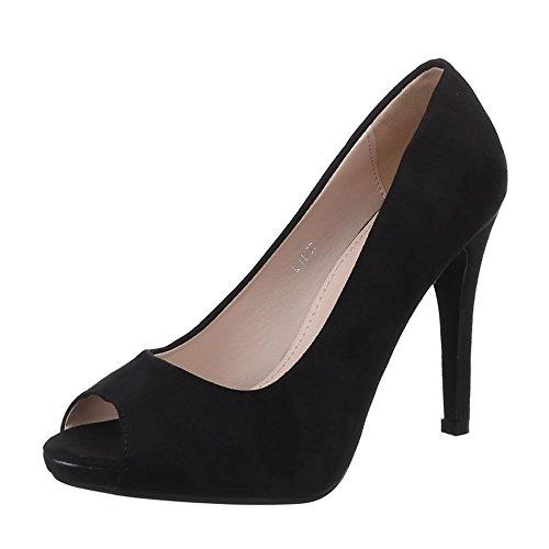 Ital-Design - Zapatos de Tacón Mujer Negro - negro