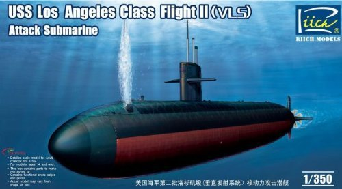 Flight Model Kit - Riich Models USS Los Angeles Class Flight II (VLS) Attack Submarine 1:350 Scale Military Model Kit