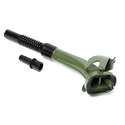 Ausgießer flexibel Einfüllstutzen olivgrün für Metall Benzinkanister Kanister